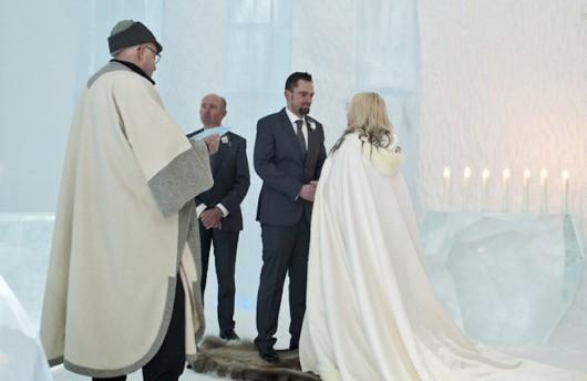 Matrimonio in mezzo ai ghiacci